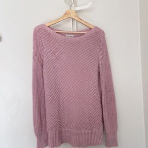 CALVIN KLEIN Knit Long Line Sweater with Side Zip